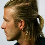 REAL MADRID&#039;S BECKHAM LOOKS ON AT NEWS CONFERENCE IN HONG KONG